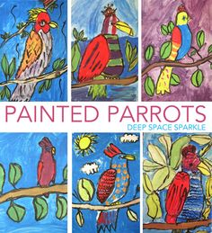 Parrotsare an art room staple. They are easy to draw and even more fun to paint. I love this lesson because no matter what the child's perceived artistic ability, most will be totally surprised with how well they did. For this lesson, which took three-45 minute class times, we started with learning how to draw …