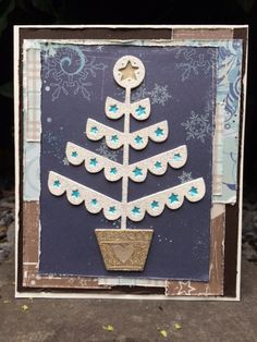 660726 - ThinLits - Christmas Tree & Snowflakes PK9115 - Pretty Papers - 15.2 x 15.2cm - Artic Winter 390113 - Embossing powder - White-Glitter(Special Silver) 390110 - Embossing powder - Gold-Glitter(Special Silver) 260903 - Original, scrap - Anjerwit 260938 - Original, scrap - Donkerbruin