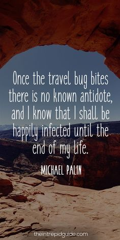 The ultimate list of inspirational travel quotes. Let wordsmiths like Stephen King & Mark Twain transport you around the world from your armchair with the best travel quotes for travel inspiration. Travel Quotes Wanderlust, Travel Qoutes, Travel The World Quotes, Best Travel Quotes, Travel Words, End Of Vacation Quotes, Mark Twain, New Travel, Travel Bugs