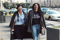 Bougie Black Girls in Baltimore natural hair styles commecoco comme coco street style tees in the trap fashion editor style haitian