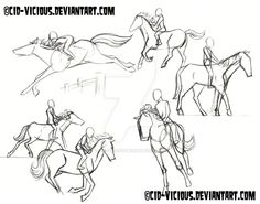 WIP – Horse Riding Sketches by Cid-Vicious on DeviantArt WIP – Horse Riding Sketches by Cid-Vicious on DeviantArt - Art Of Equitation Drawing Base, Manga Drawing, Figure Drawing, Horse Drawings, Animal Drawings, Art Drawings, Animal Sketches, Art Sketches, Ride Drawing
