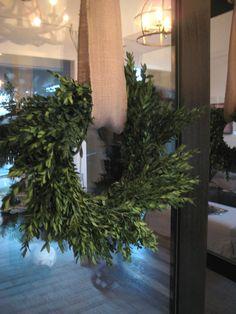 wreath with burlap hanger