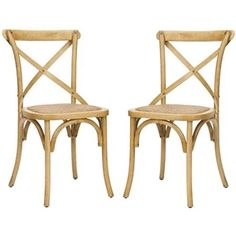 Amazon.com - Safavieh American Home Collection Alexia X-Back Side Chairs, Oak - Chairs