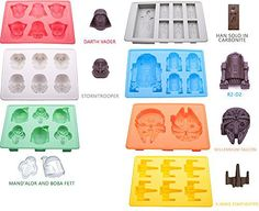 Silicone Molds for Star Wars Lovers By Vibrant Kitchen Ice Cube Trays and Candy Molds for Baking and Cool Drinks (Set of 7) - http://bestchocolateshop.com/silicone-molds-for-star-wars-lovers-by-vibrant-kitchen-ice-cube-trays-and-candy-molds-for-baking-and-cool-drinks-set-of-7/