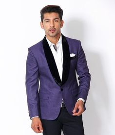 Buy The Design Factory Solid Tuxedo Party Men's Blazer Online at Best Offer Prices @ Rs. 3,278/- In India. Blue Blazer Outfit, Blazer Outfits, Factory Design, Blazers For Men, Party Fashion, Tuxedo, Suit Jacket, India, Indie