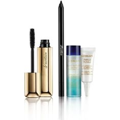 Guerlain Maxi Lash Set (80 CAD) ❤ liked on Polyvore featuring beauty products, makeup, eye makeup, false eyelashes, beauty, apparel & accessories, pencil eyeliner, black eye makeup, guerlain and black pencil eyeliner