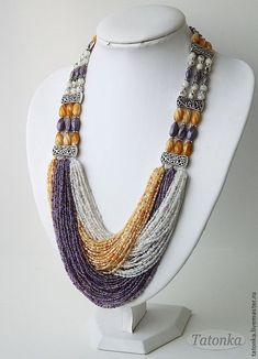 silver hinged collar necklace before collar necklace ireland much beaded collar necklace designs toward gold wire collar necklace Seed Bead Necklace, Seed Bead Jewelry, Bead Jewellery, Diy Necklace, Necklace Designs, Statement Jewelry, Wire Jewelry, Jewelry Crafts, Beaded Jewelry