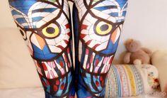 OWL Mosaik LEGGINGS gedruckt coole Leggings / Hose Sport / Designed Leggings / Frauen Stretch Leggings / 2014 Sommer Yoga Pants Cool Strumpfhosen dz74
