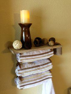 RUSTIC Western COWBOY Horseshoe Towel Rack Shelf COUNTRY Bathroom Accessory Hand Distressed Glazed  Very Beautiful