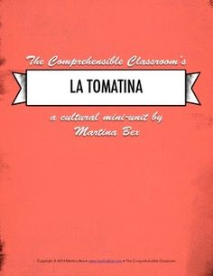 3 day lesson plans for Spanish 1 classes to teach students about the Tomatina; includes a three-level embedded reading in Spanish and four video activities, in addition to other materials.