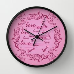 Floral Love Wall Clock by refreshdesign