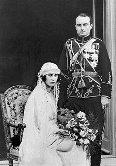 The Official Wedding Portrait Of Prince Paul Of Yugoslavia And Princess Olga Of Greece In Belgrade Yugoslavia On October 22 1923