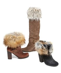 Shop for footwear, faux fur leg warmers, boot toppers, boot wraps, animal print pumps at Donna Salyers' Fabulous-Furs. Two Boots, Boot Toppers, Fabulous Furs, Faux Fur Boots, Cold Weather Fashion, Boot Cuffs, Fur Fashion, Pretty Outfits, Pretty Clothes