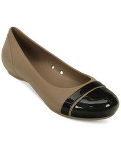 a6d2ef6334a9b Crocs Women s Cap Toe Flats Shoes - Flats - Macy s