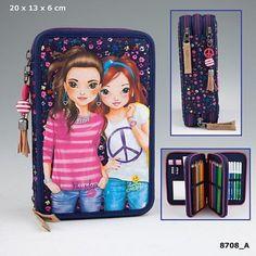 Top Model Milles Fleures Triple Filled Pencil Case