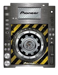 Pioneer CDJ 2000 Remix Art Contest Djs love art too and artists love music. Dj Electro, Dj Decks, Pioneer Dj, Dj Remix, Studio Gear, Dj Booth, Dj Equipment, Custom Paint Jobs, Music Production