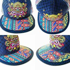 Custom Painted Grassroots California Hat by MAMA ANA Painted Clothes 80de74b4d306