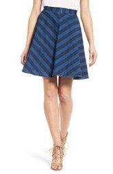 Plenty by Tracy Reese Stripe Denim Circle Skirt