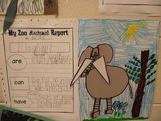 Animal Reports for kinder or first grade - would be an awesome way to use a tree map.
