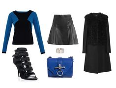 Blue, black, leather and shearling by Tess Montgomery | Apprl - Social Shopping