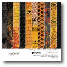 Zestaw papierów (15x15) - Nightfall Collection - M Na-Strychu