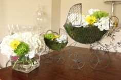 baby carriage flower arrangements - Google Search | Baby shower ...