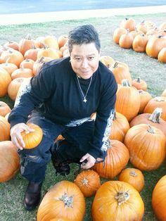 at the pumpkin patch,lol
