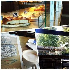 Il Gianfornaio in Roma, Lazio  Breakfast at 'Il Gianfornaio', with a view over the oldest bridge in Rome, Ponte Milvio. A cornetto con marmellata di visciole and a fazzoletto con marmellata di albicocche with a foamy cappuccino for him, and a sugar coated ciambella with an energizing ginseng coffee for me. Stroll down the pedestrian bridge and make sure to snap a few shots with the beautiful Ponte Flaminio in the background!