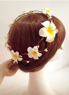 wedding hair band wedding hair flower Hawaii by happyshoppingmall