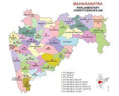 Maharashtra Lok Sabha 2014 Election Constituency Map