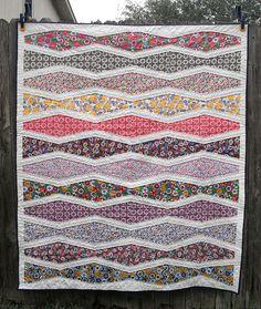 New Wave Quilt Front by jenniferworthen, via Flickr