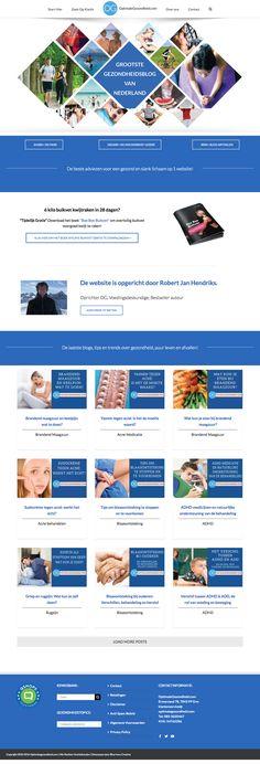 Website design for Netherlands-based website Optimale Gezondheid.  #HealthBlog #WellnessWebsite #WebDesign #Wordpress