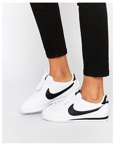 Image 1 of Nike Leather White Cortez Trainers