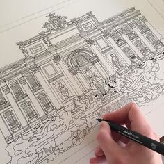 Have been working on Rome's Trevi Fountain for a couple of days now. Just a…