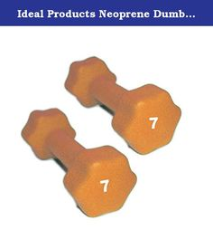 Ideal Products Neoprene Dumbbells Pair - 7 lb. These are Ideal Products' Neoprene Dumbbells. They are simple, effective neoprene coated iron hand weights that provide a soft grip and reduce slip. Perfect for jogging, aerobics, power walking, general exercise and physical therapy, these dumbbells are available at each pound from 1 to 10 lb, and afterward, up to 30 lbs in increasing increments.
