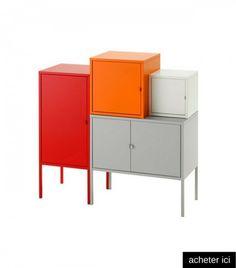 Combinaison de rangement divers coloris Lixhult  http://www.homelisty.com/coaching-deco-chambre-enfant-theme-foret/