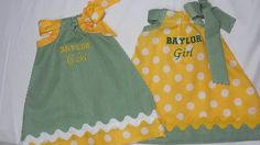 Darling Baby Girl's Dress BAYLOR GIRL by TheBeeInMe on Etsy, $28.95