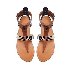 Building a Spring 2013 Wardrobe: LEATHER STRAP THONG SANDAL - Shoes - Woman - ZARA Canada