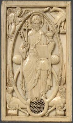 Maestro Domeni; Франция; XI в.; местонахождение: Англия. Лондон. Музей Виктории и Альберта; 8.5 x 14.6 см.; материал: кость; техника: резьба по кости.