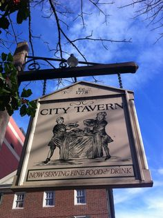City Tavern --- There is no other place in the world where you can experience authentic 18th century American culinary history. Can make reservations. http://www.citytavern.com/.