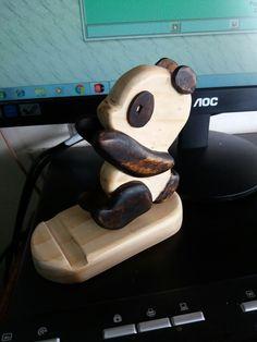 Portacelular de Panda madera pino Fio