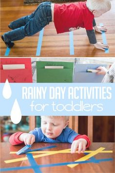 Super Fun Rainy Day Activities for Toddlers Indoor rainy day activities for toddlers to do Fun Rainy Day Activities, Rainy Day Fun, Infant Activities, Preschool Activities, Rainy Days, Things To Do With Kids On A Rainy Day, Indoor Toddler Activities, Nanny Activities, Indoor Games