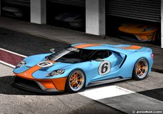 GULF-liveried 2016 Ford GT by Jon Sibal