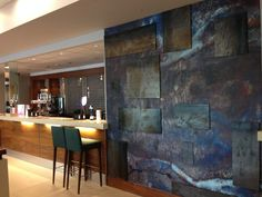 Mercure Sheffield Refurbishment - Reception Area, Brand Wall