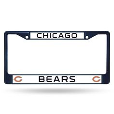 Chicago Bears Metal License Plate Frame - Navy