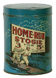 Home Run Stogie Tin