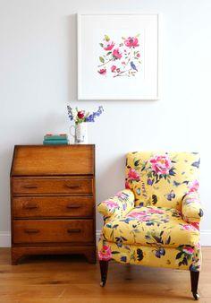 Saffron butterfly chair ~ Fi Douglas / bluebellgray
