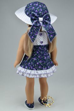 Handcrafted 18 inch girl doll clothes Special by PurpleRoseNY