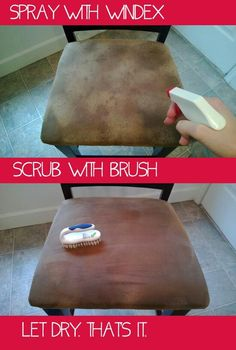 I am going to try this because I have not found ANYTHING that did not leave stains from cleaning microfiber. -aw Cleaning microfiber. I just tried this and it works great