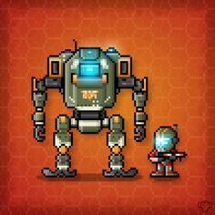 BT-7274 and Jack Cooper Pixel Art. Happy Friday Pilots! http://ift.tt/2gtALWb